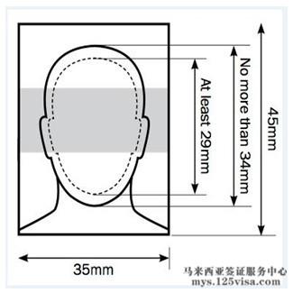马来西亚签证材料照片模板